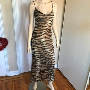 Blumarine Silk Leopard Dress Size 42 4